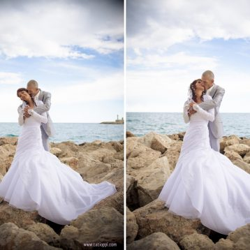 {Photographe de mariage Menton} Magali & Eric, photos de couple sur la plage.