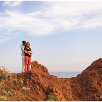 {Photographe de couple Nice} Sabrina & Leo, les terres rouges de l'Esterel.